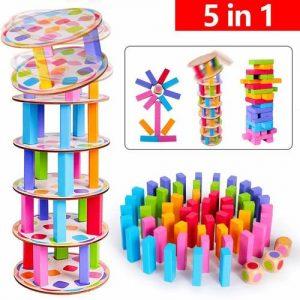 Apilables de colores en madera para jugar. Juguete infantil en madera