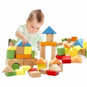 bloques de madera para jugar infantiles
