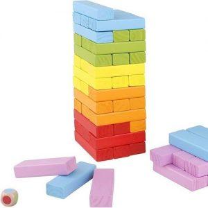 Jenga de colores infantil en madera