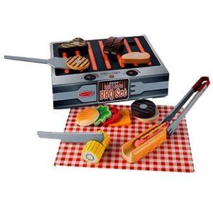 BBQ barbacoa de juguete en madera para niños