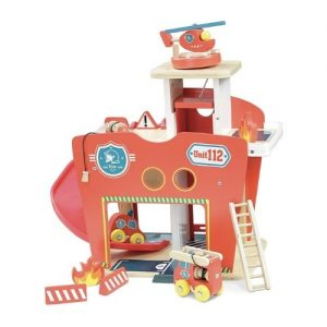 Estación de bomberos de madera infantil