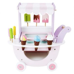 Carrito de helado en madera para jugar