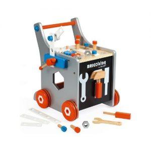 carrito de herramientas de bricolaje en madera infantil de Janod