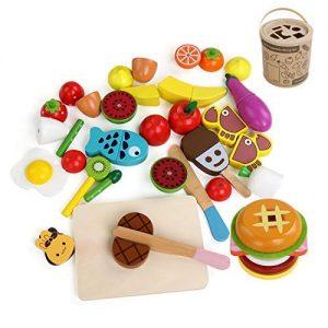 alimentos de madera para niños. Comida de juguete