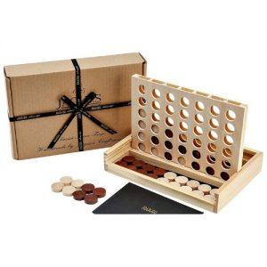 Conecta 4 de madera juego de mesa