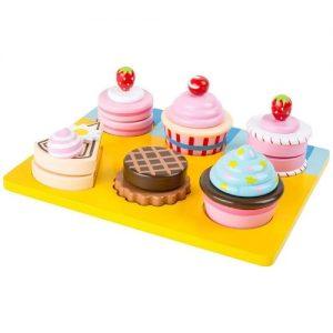 Cupcakes de madera para jugar a las cocinas