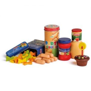 surtido de alimentos en madera infantiles Erzi