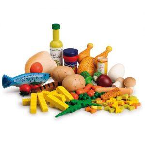 comida de juguete en madera de la marca Erzi