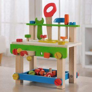 everearth banco de bricolaje de madera ecológico infantil con herramientas