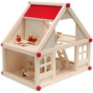 casa de muñecas de madera infantil de pequeñas dimensiones Eyepower
