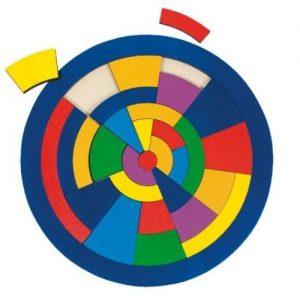 puzzle geométrico de madera para niños Goki