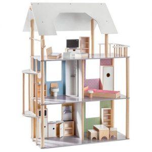 casa de muñecas con muebles de madera para niños Howa
