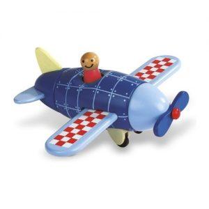Avión de madera azul para niños Janod