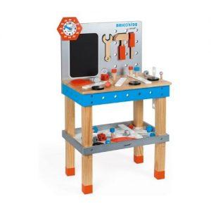 banco de trabajo para jugar y hacer bricolaje en madera de Janod