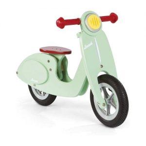 Bicicleta scooter de madera para niños verde Janod