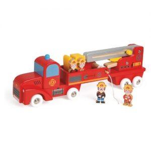 Camión de bomberos de madera para niños Janod