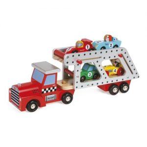 Camión portacoches de madera infantil Janod