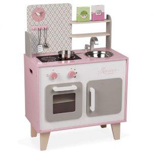 Cocina rosa vintage en madera de juguete Janod