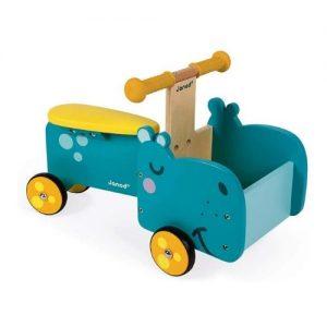 Correpasillos andador con forma de hipopótamos Janod