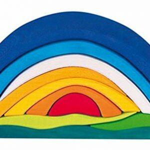 arco iris de madera para jugar