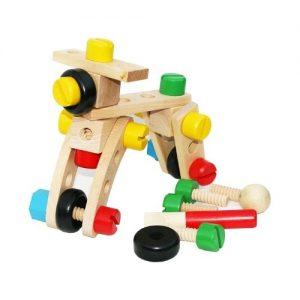 juguete de tuercas y tornillos en madera Towo