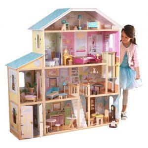 casa de muñecas grande en madera para jugar kidkraft