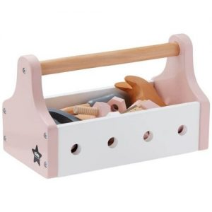 caja de herramientas de madera infantil. Juguete de la marca kids concept