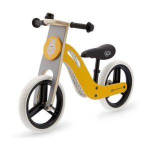 Bicicleta para niños de madera de color amarillo KinderKraft