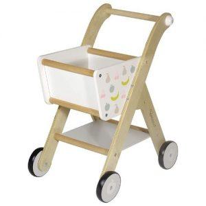 Carrito de la compra de juguete para niños en madera Kindsgut