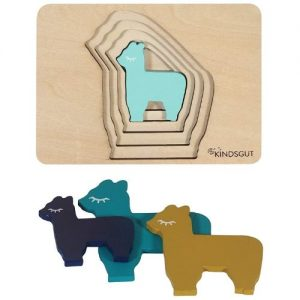 puzle de madera infantil con animales kindsgut