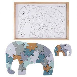 Puzzle de madera de elefante kindsgut