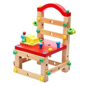silla de madera para construir. Kit de bricolaje de madera infantil