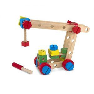 kit de construcción de madera infantil. Set de bricolaje de madera ecológico para niños