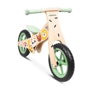 Bicicleta infantil de madera de Lalaloom con dibujos de animales