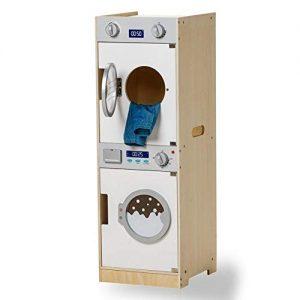 Lavadora y secadora para jugar en madera. Juguete infantil en madera