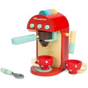 Cafetera de juguete roja en madera para niños Le Toy Van