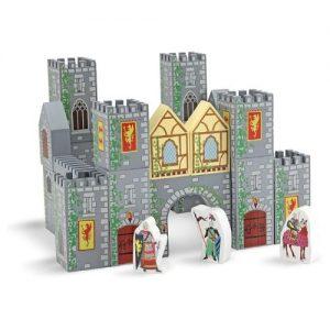 castillo medieval con bloques de madera para niños melissa & doug