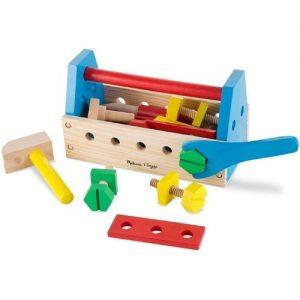Caja de herramientas de madera para niños de Melissa & Doug para jugar