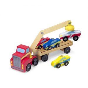 Camión portacoches de madera infantil de Melissa & Doug