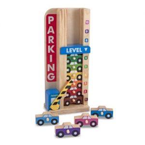 juego de apilar coches de madera para niños de Melissa & Doug