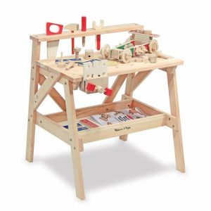 banco de herramientas de bricolaje de madera de juguete