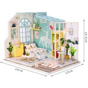 Mini casa de muñecas de madera para construir DIY