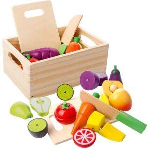 alimentos de madera para niños