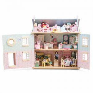 casa de muñecas de madera de grandes dimensiones Le Toy Van