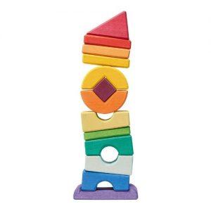 piezas de madera irregulares para apilar de nic toys
