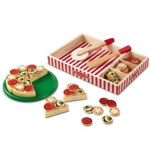 juego de pizza para niños en madera