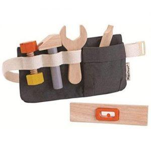 cinturón de juguete con herramientas de madera infantil de plan Toys