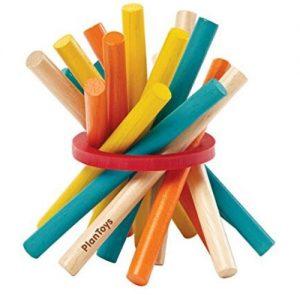 juego de madera con stick palitos de colores plant toys