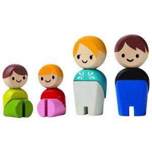 figuras de madera para casa de muñecas de madera