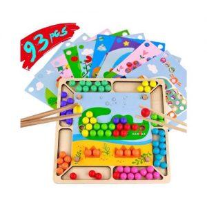 Puzle de madera Montessori infantil